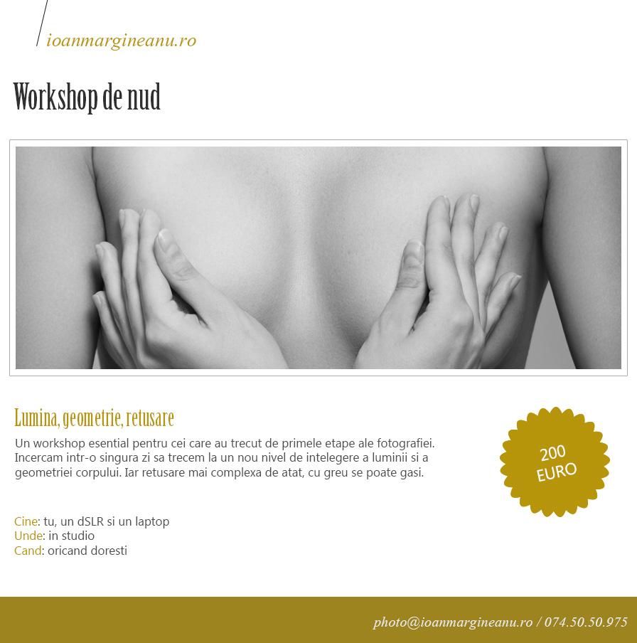 curs fotografie nud